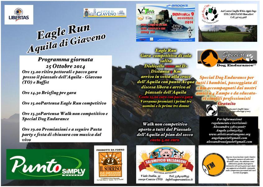 Eagle Run Aquila di Giaveno  sabato 25 ottobre 2014