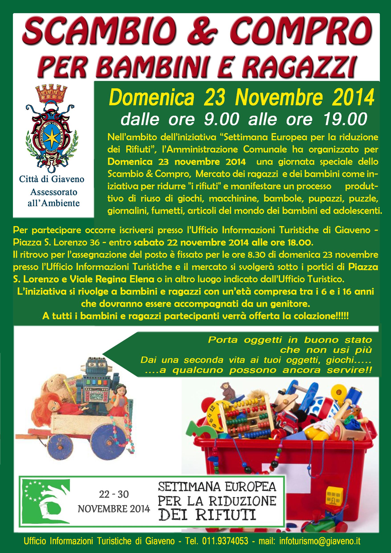 Scambio & Compro per  bambini e ragazzi  – domemica 23 novembre 2014