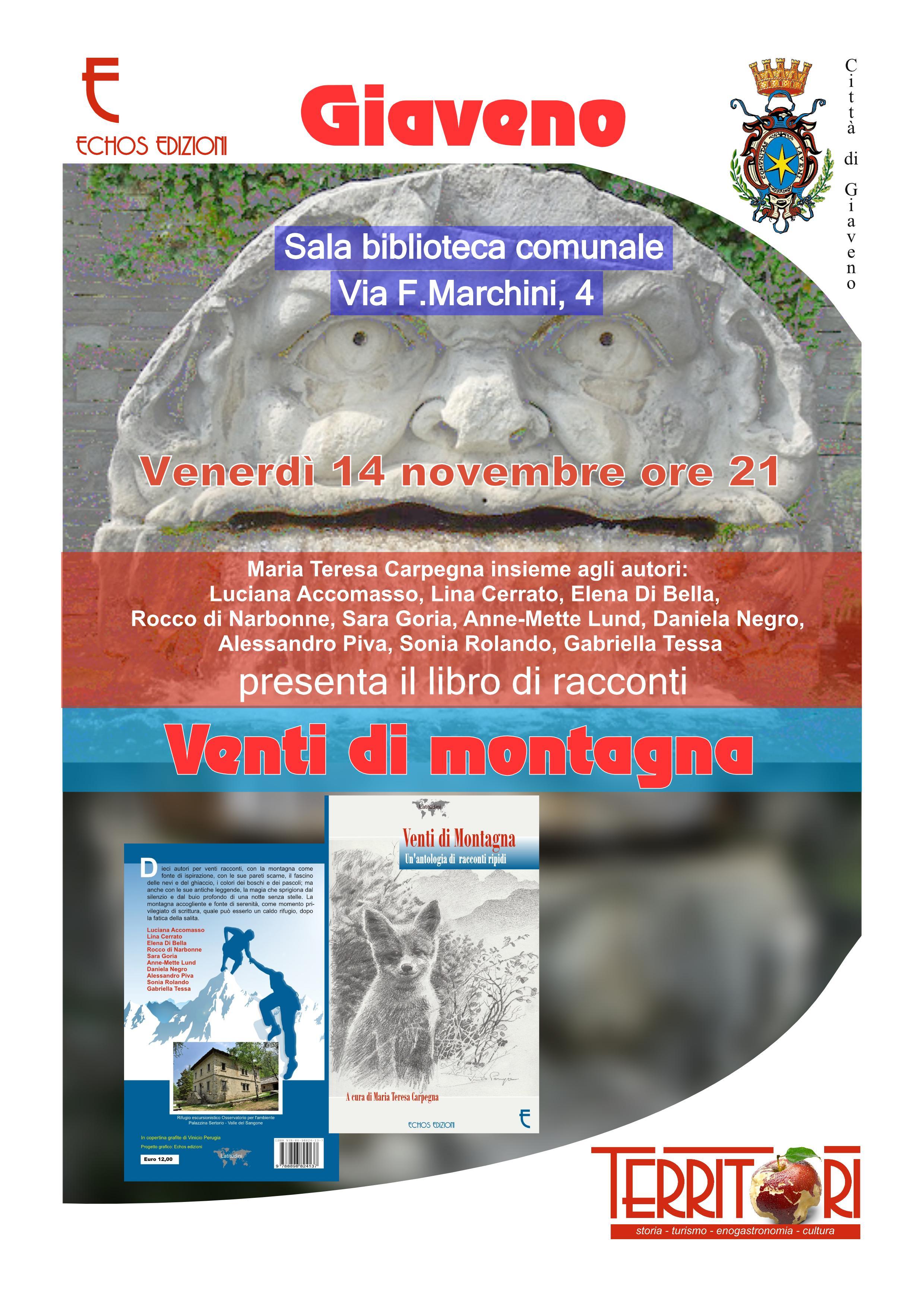 Venti di Montagna – presentazione venerdì 14 novembre 2014 ore 21