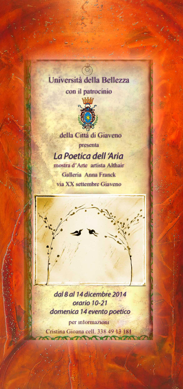 La Poetica dell'Aria  – mostra dell'artista Althair –