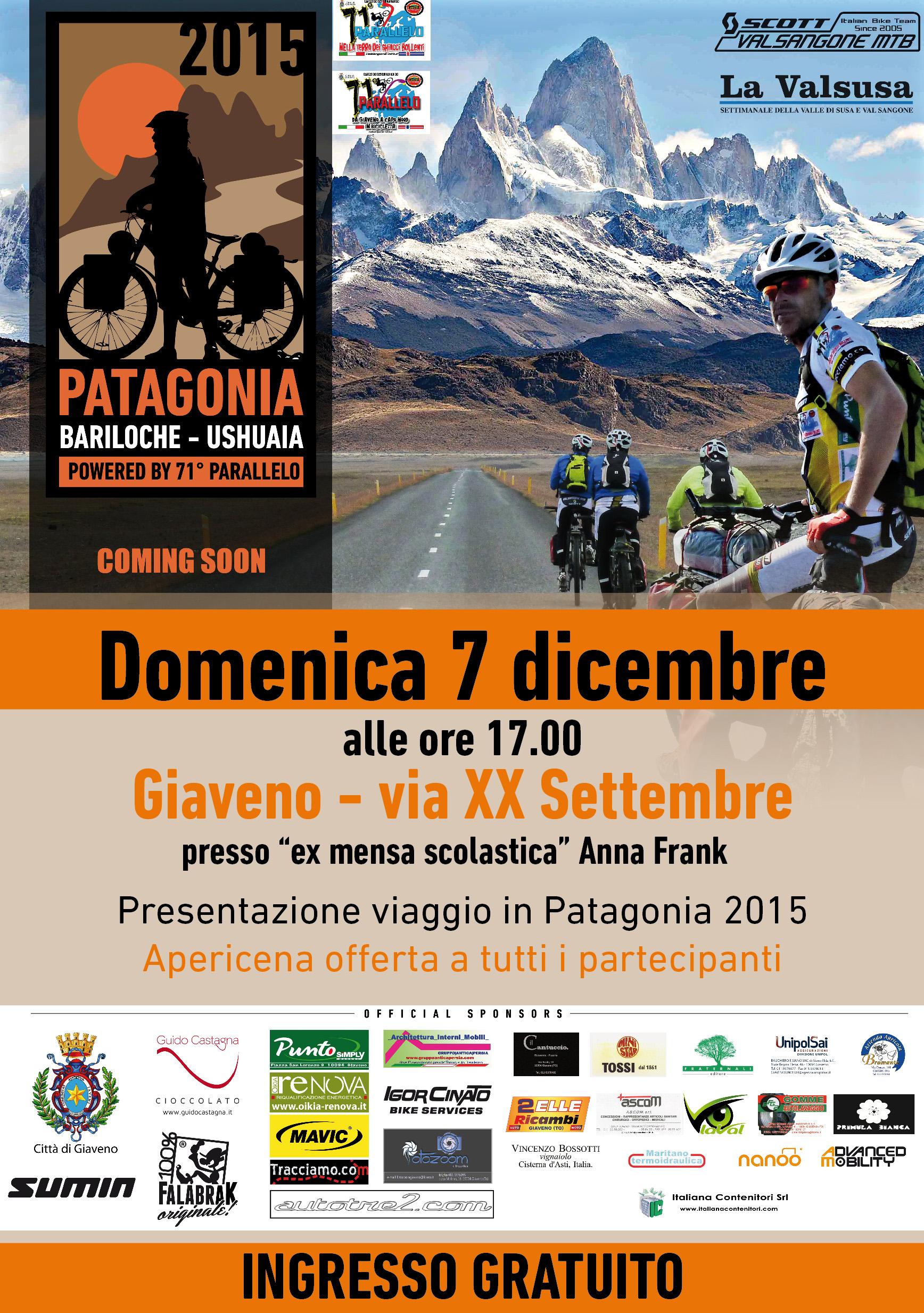 Viaggio in Patagonia 2015 – presentazione – domenica 7 dicembre 2014