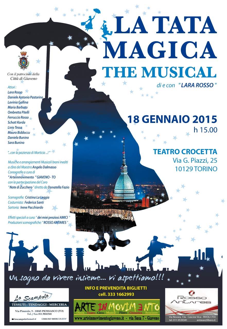 La Tata Magica The Musical – domenica 18 gennaio 2015 Torino Teatro Crocetta