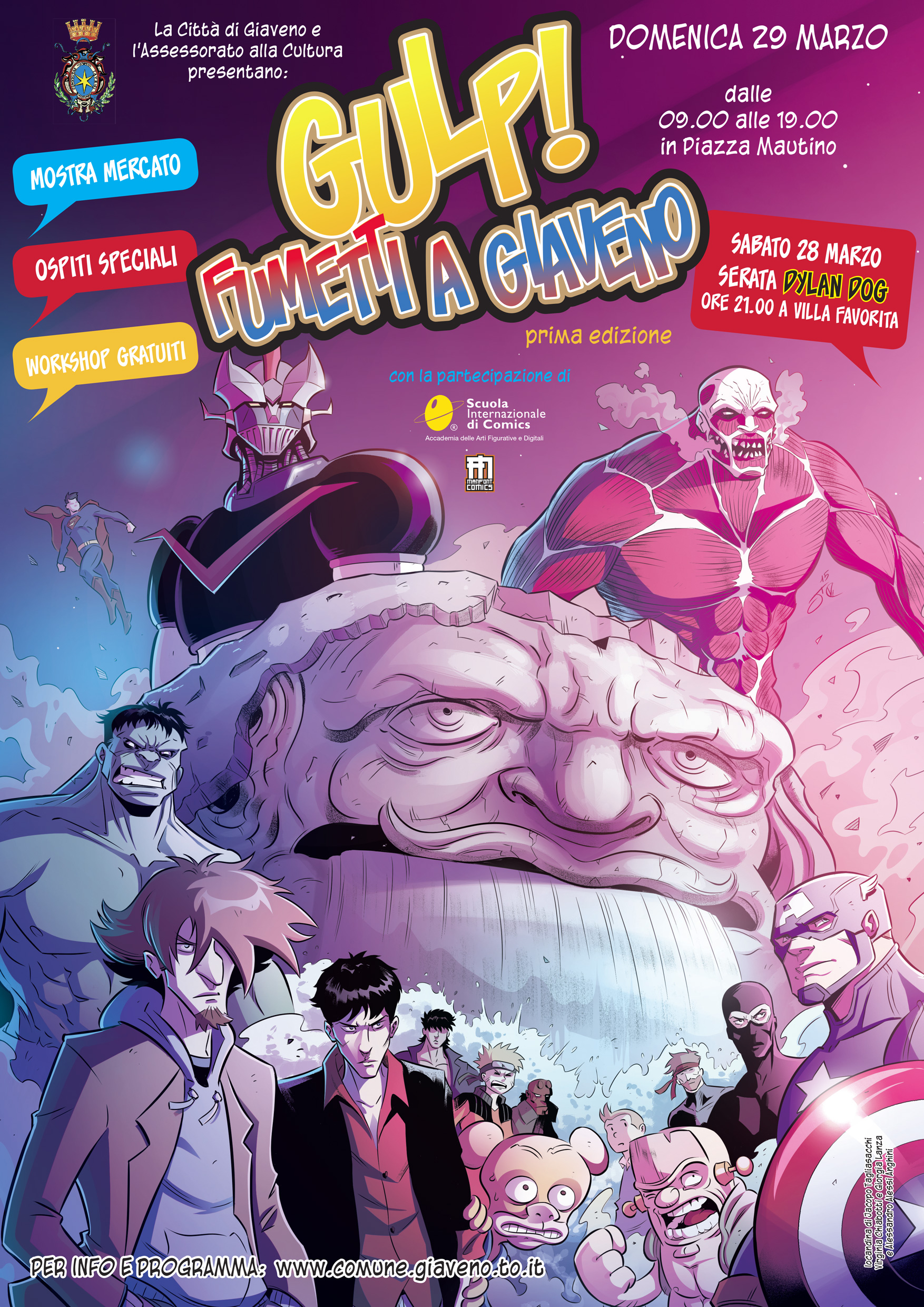 GULP! Fumetti a Giaveno  – sabato 28 e domenica 29 marzo 2015