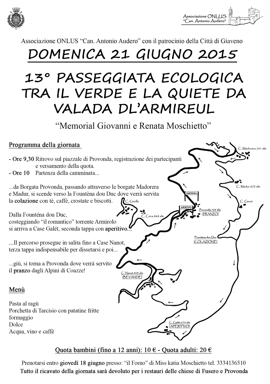 13° Passeggiata Ecologica nella vallata dell'Armirolo –  domenica 21 giugno 2015