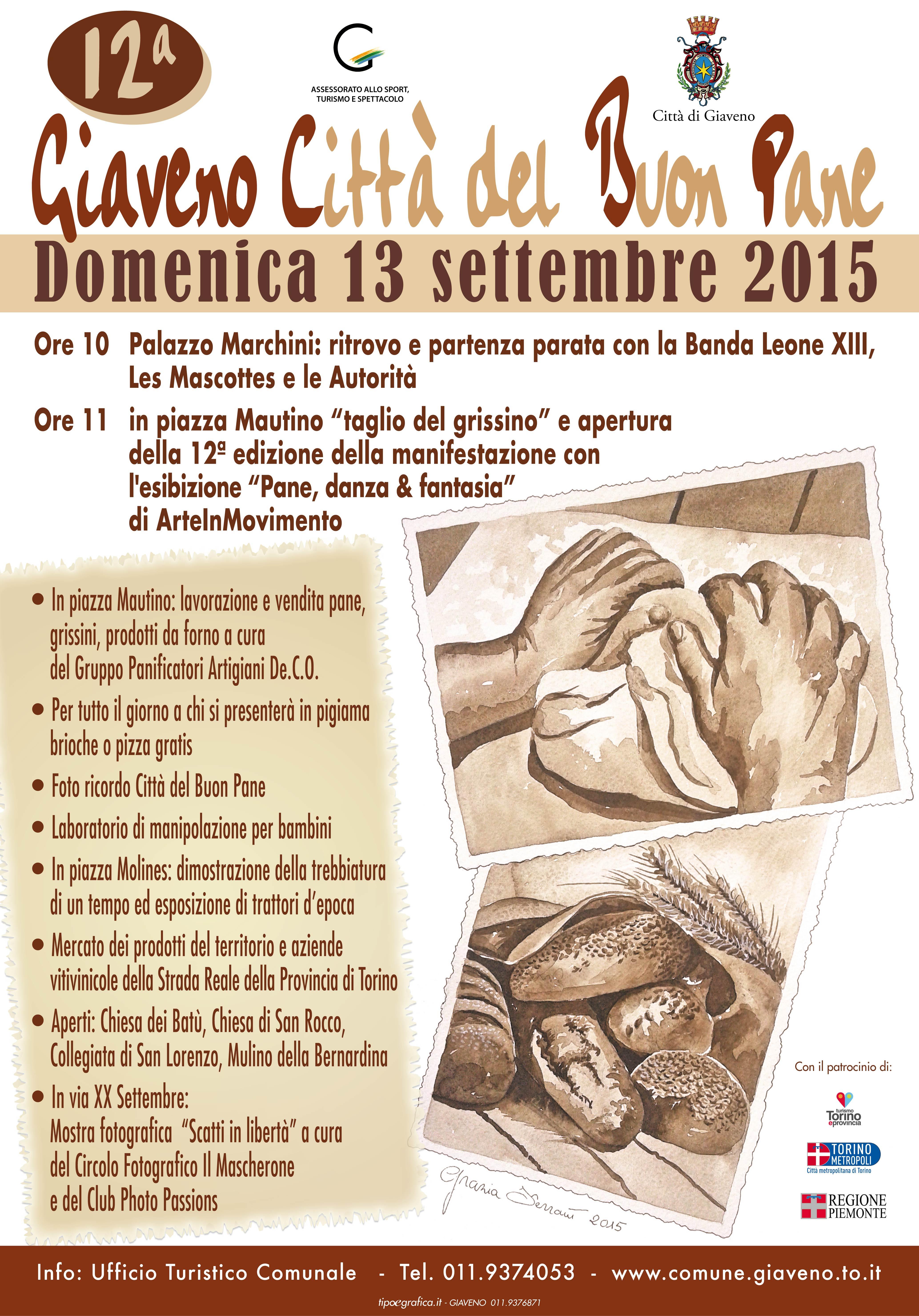 Giaveno Città del Buon Pane – domenica 13 Settembre 2015
