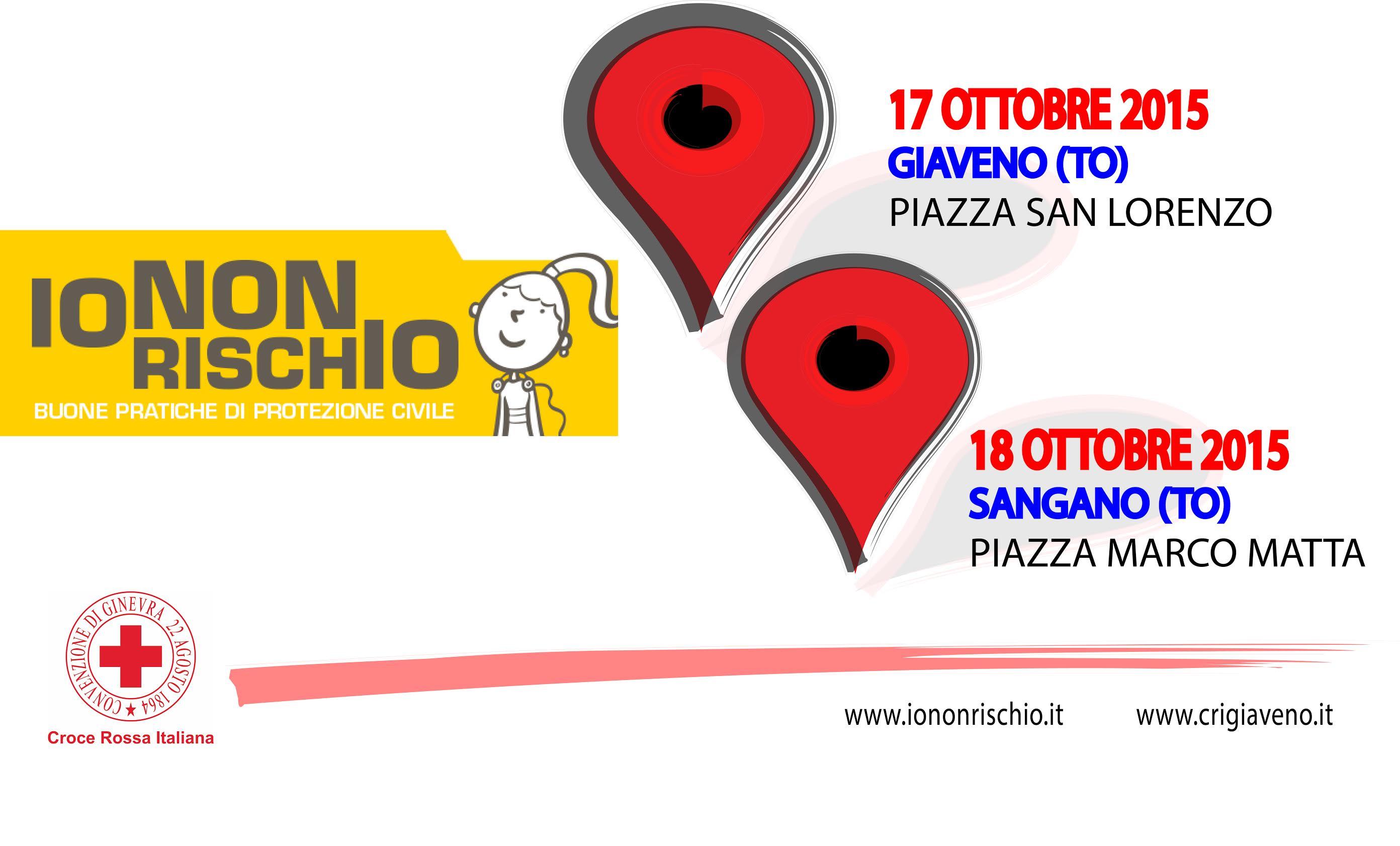 IO NON RISCHIO –  Campagna di buone pratiche di protezione civile – Giaveno sabato 17 ottobre 2015
