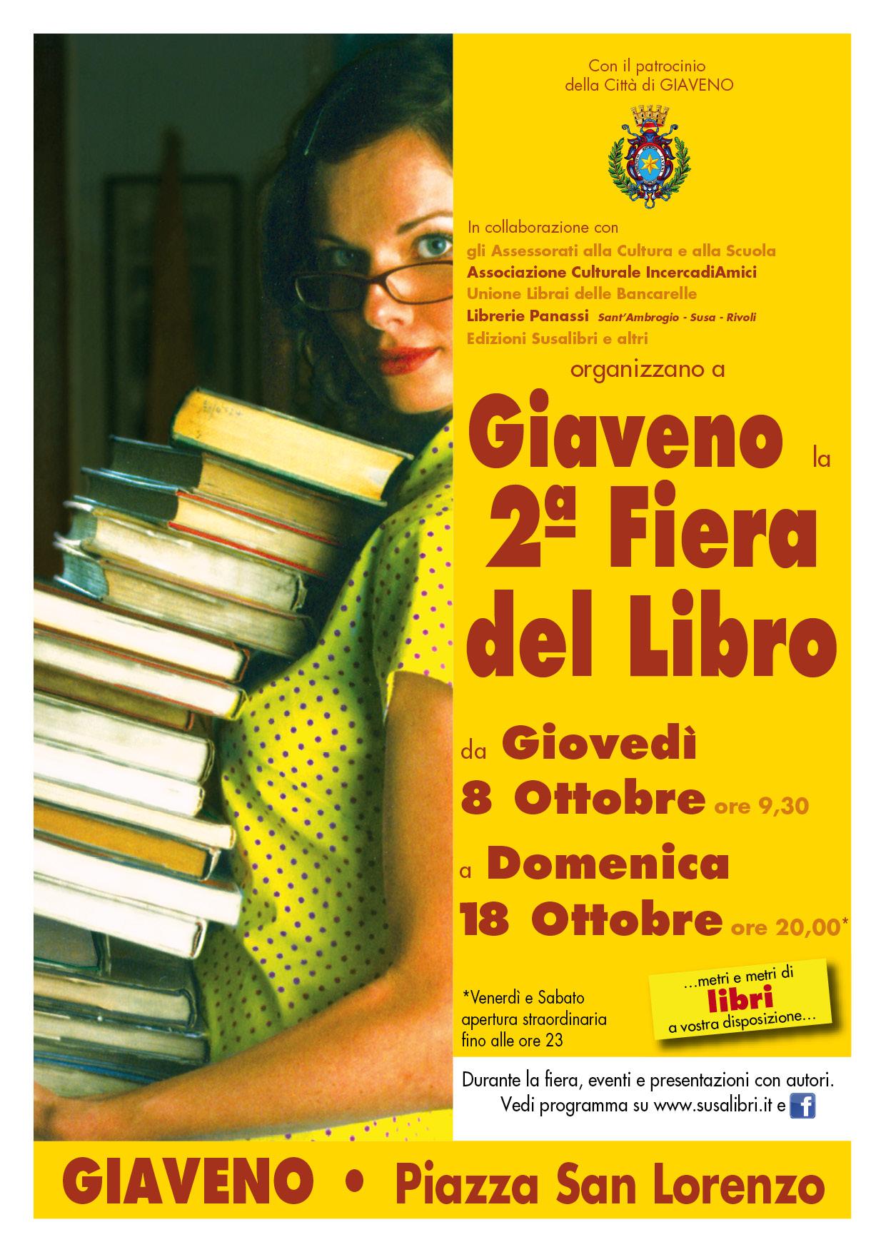 Seconda Fiera del Libro a Giaveno dall' 8 al 18 ottobre 2015