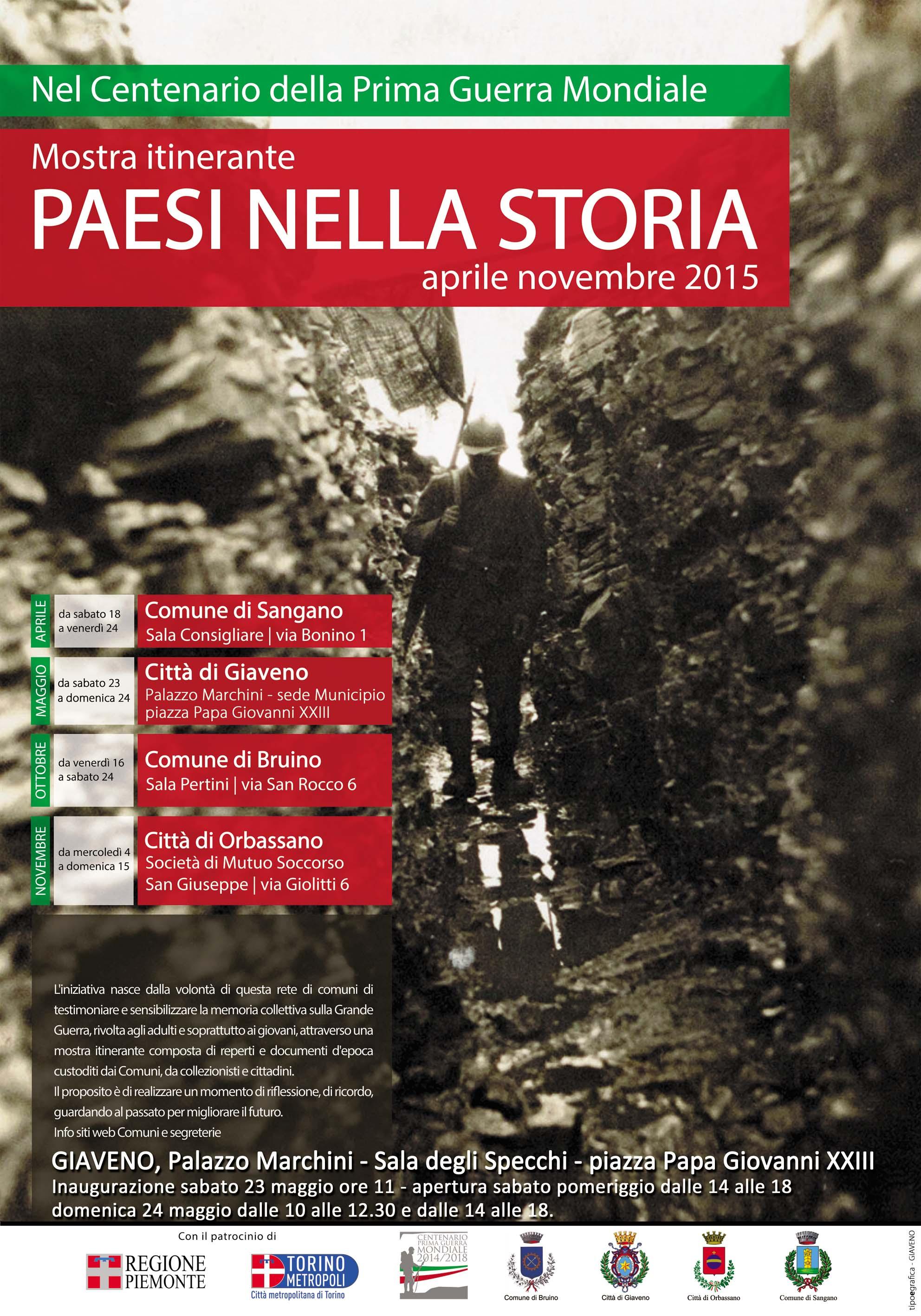 """Mostra Itinerante """"Paesi nella Storia""""  – tappa a Bruino"""