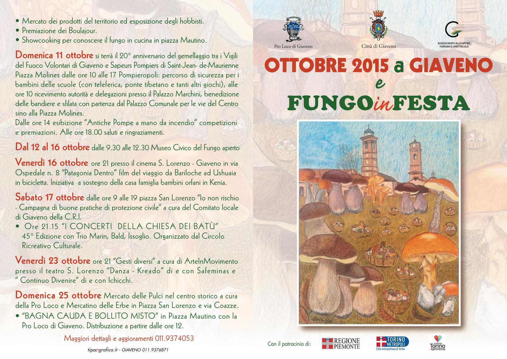 Ottobre 2015 e Fungo in Festa