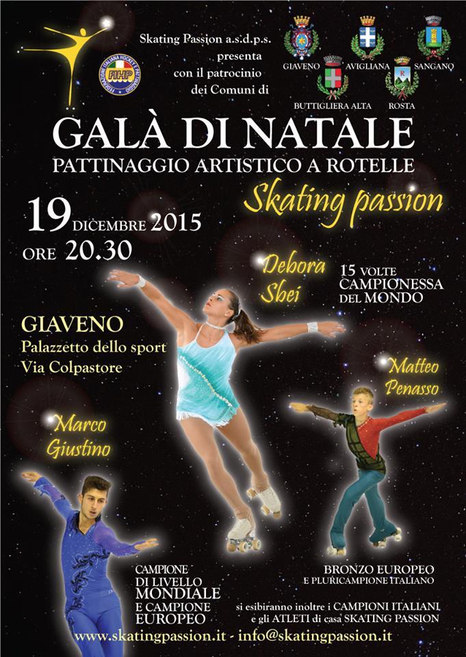 GALA' DI PATTINAGGIO ARTISTICO dello Skating Passion sabato 19 dicembre 2015