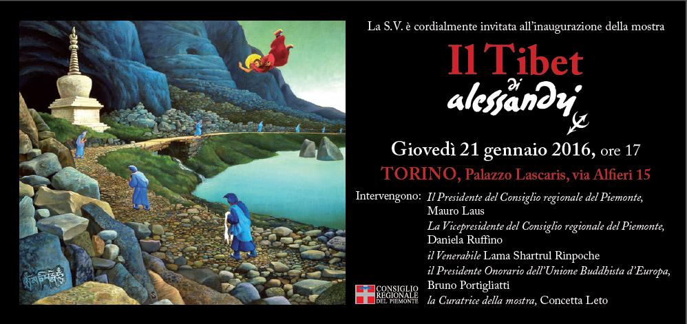 """""""Il Tibet di Alessandri""""  mostra a Palazzo Lascaris a Torino dal 21 gennaio al 4 marzo 2016"""