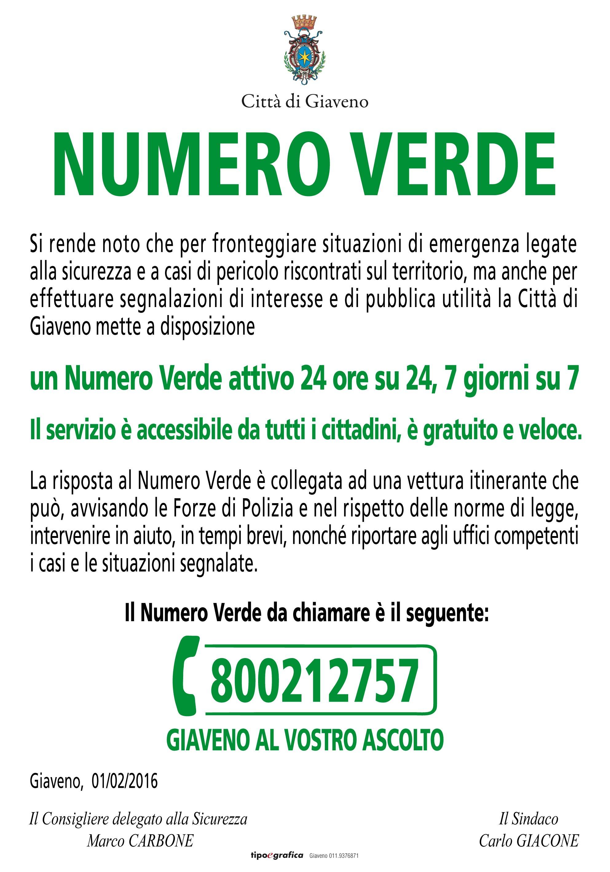 NUMERO VERDE  800212757