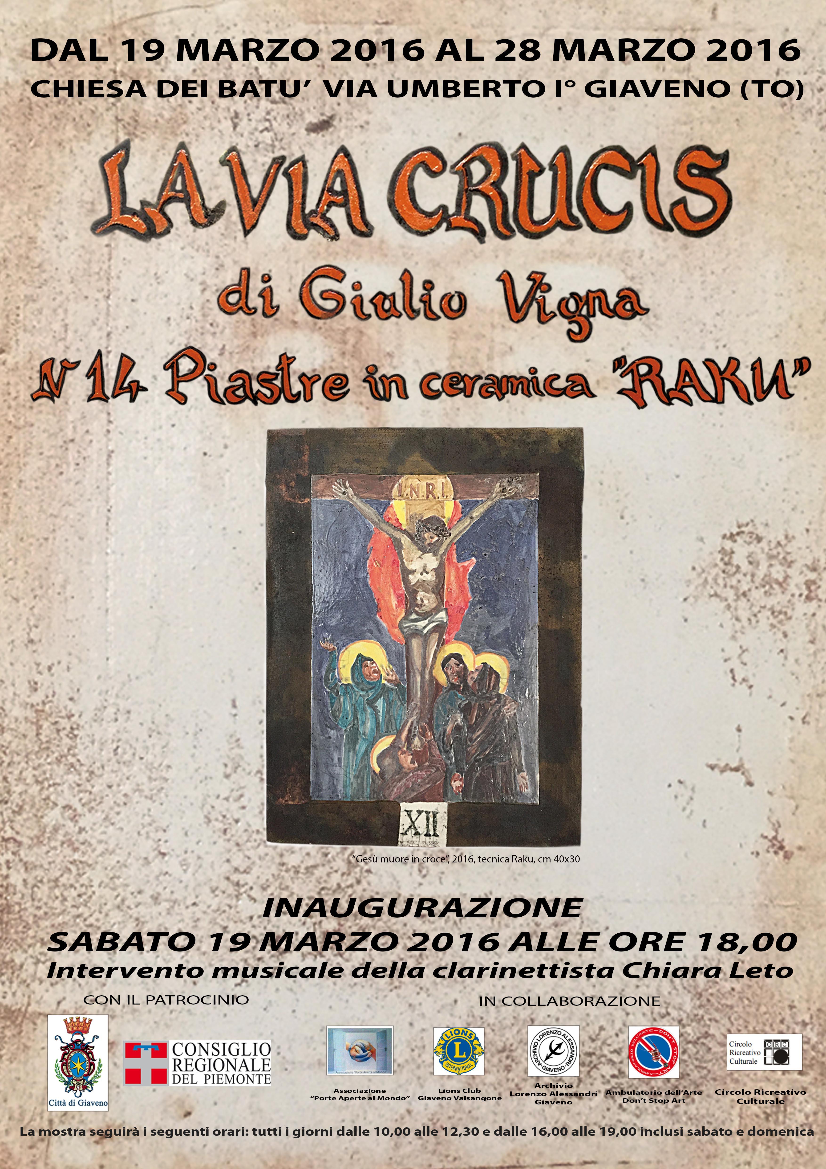 La Via Crucis di Giulio Vigna – mostra