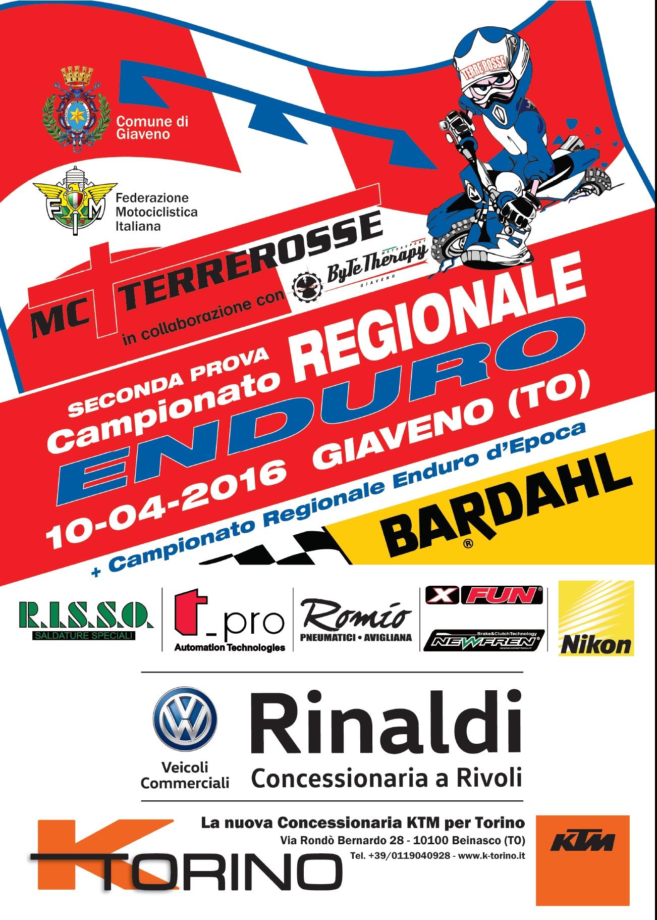 Giaveno, seconda prova del Campionato regionale di Enduro  – domenica 10 aprile 2016