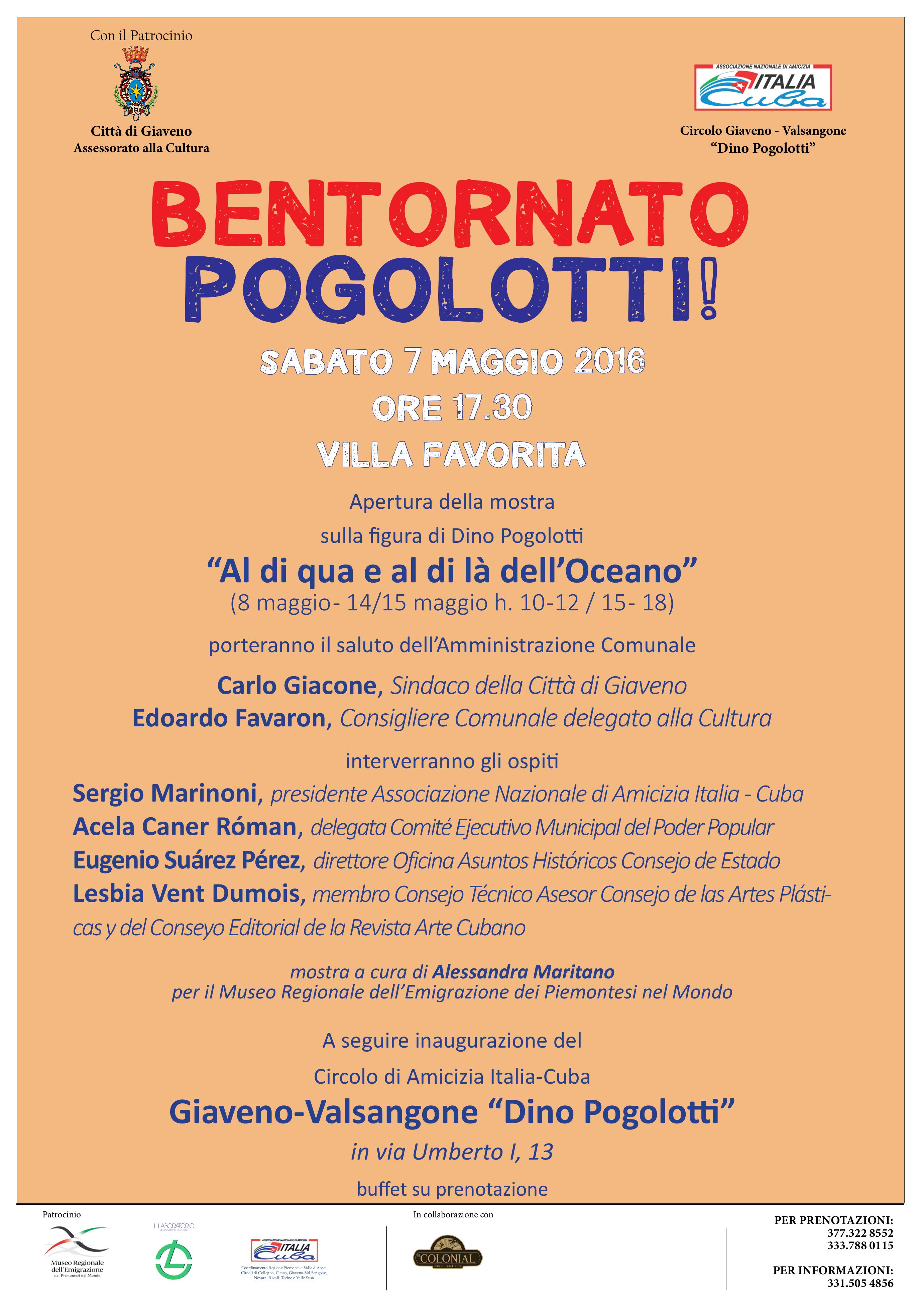 Bentornato Pogolotti !  Mostra a Villa Favorita visitabile il 14 e 15 maggio 2016