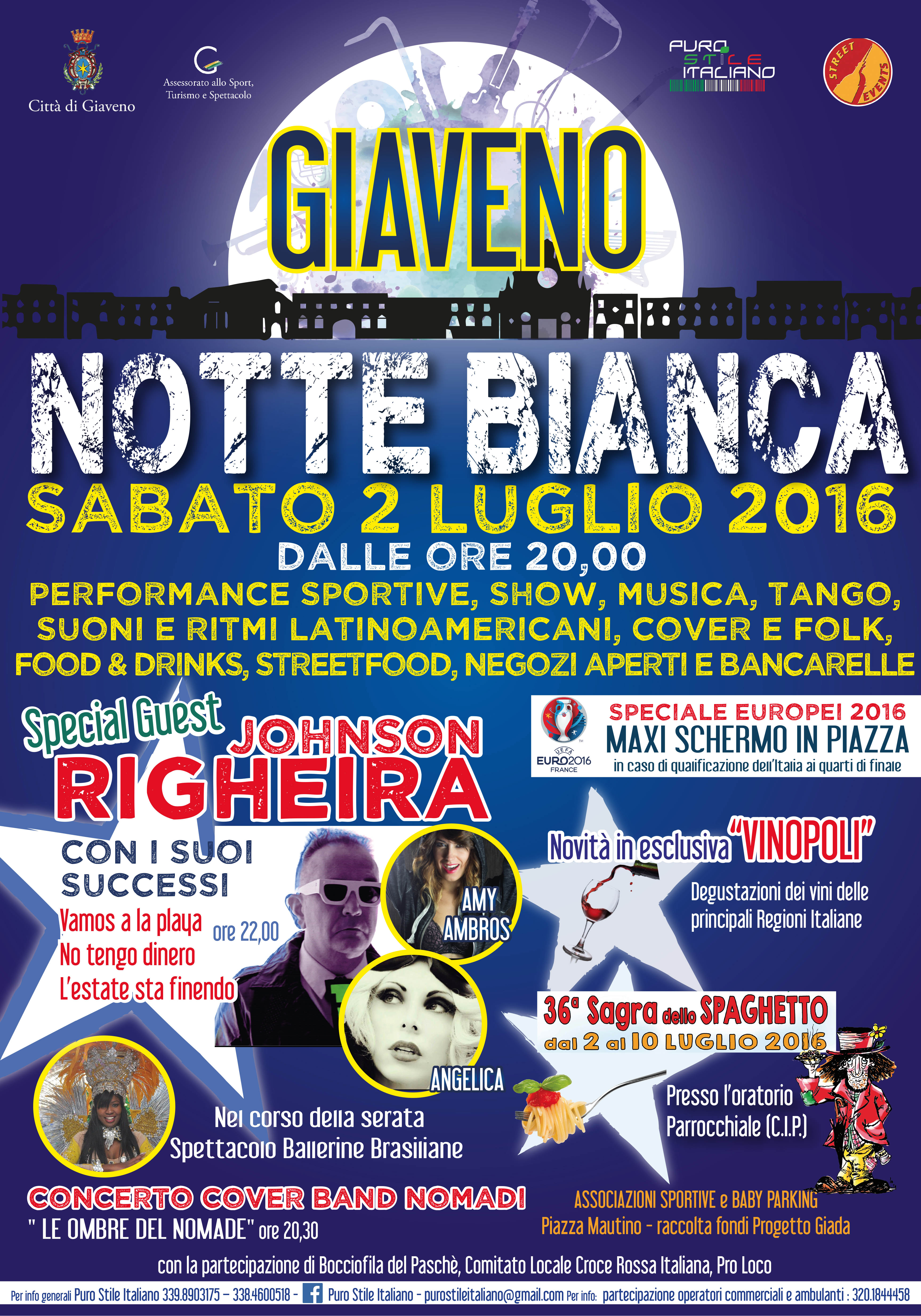 Giaveno – Notte Bianca – sabato 2 luglio 2016