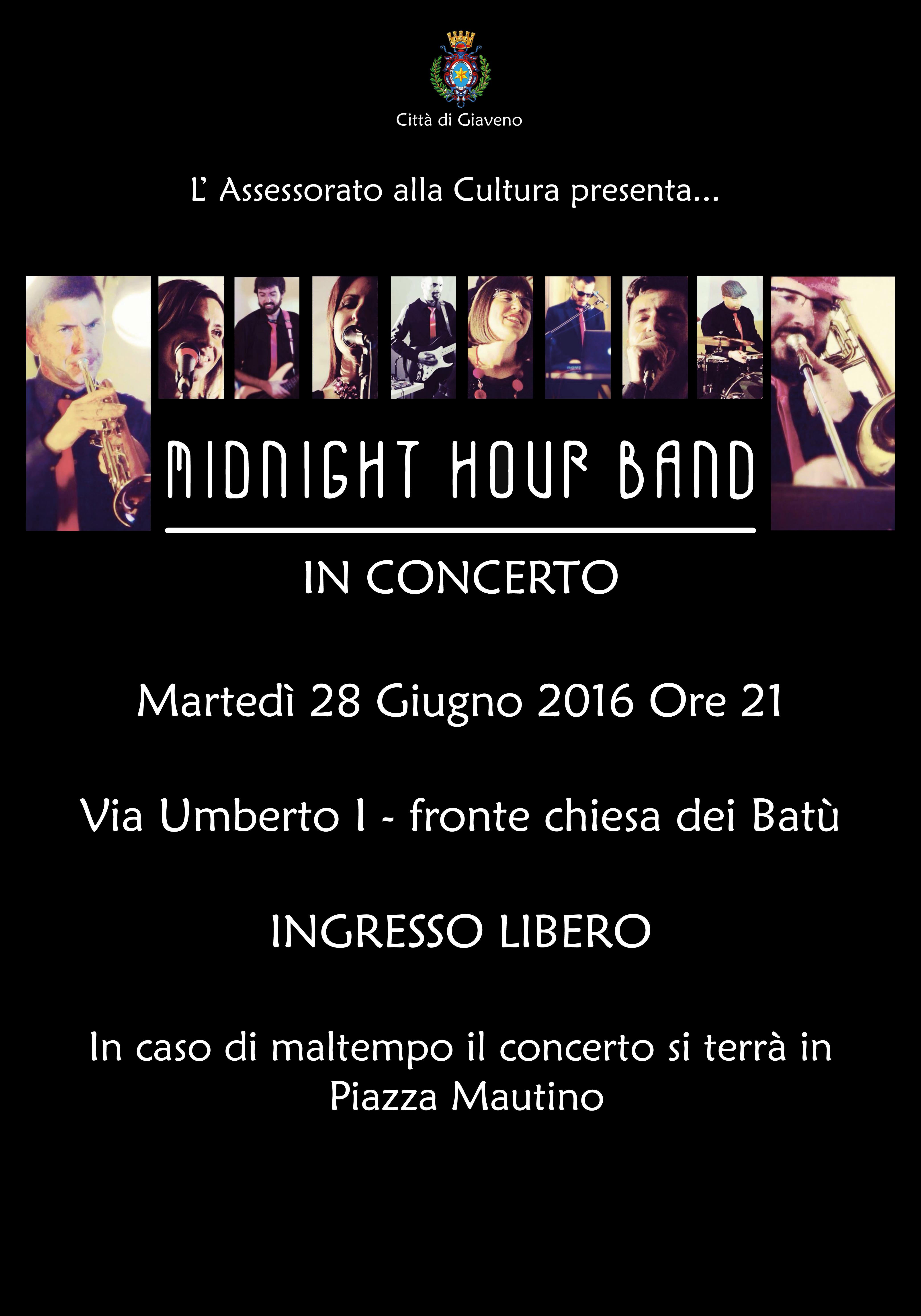 Midnight Hour Band  – Concerto di martedì 28 giugno 2016