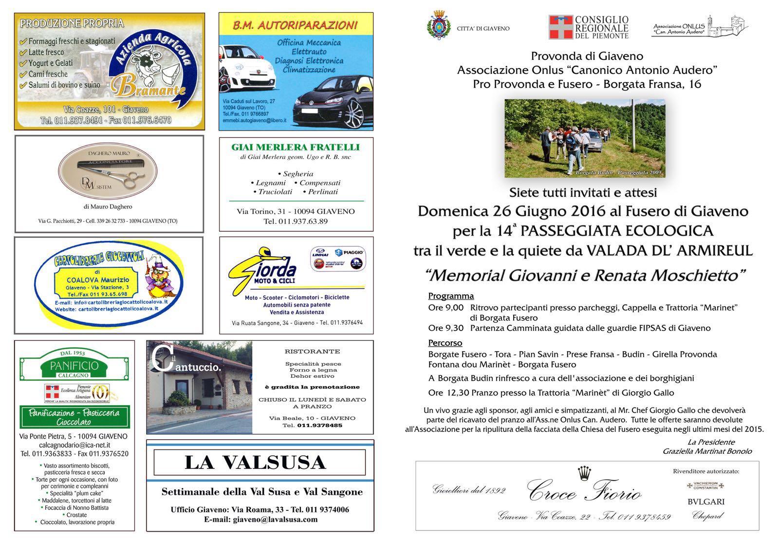 14° Passeggiata Ecologica  nella Vallata dell'Armirolo – domenica 26 giugno 2016