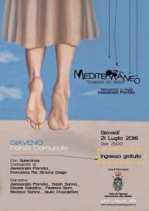 arte in movimento  spettacolo Mediterraneo del 21 luglio 2016