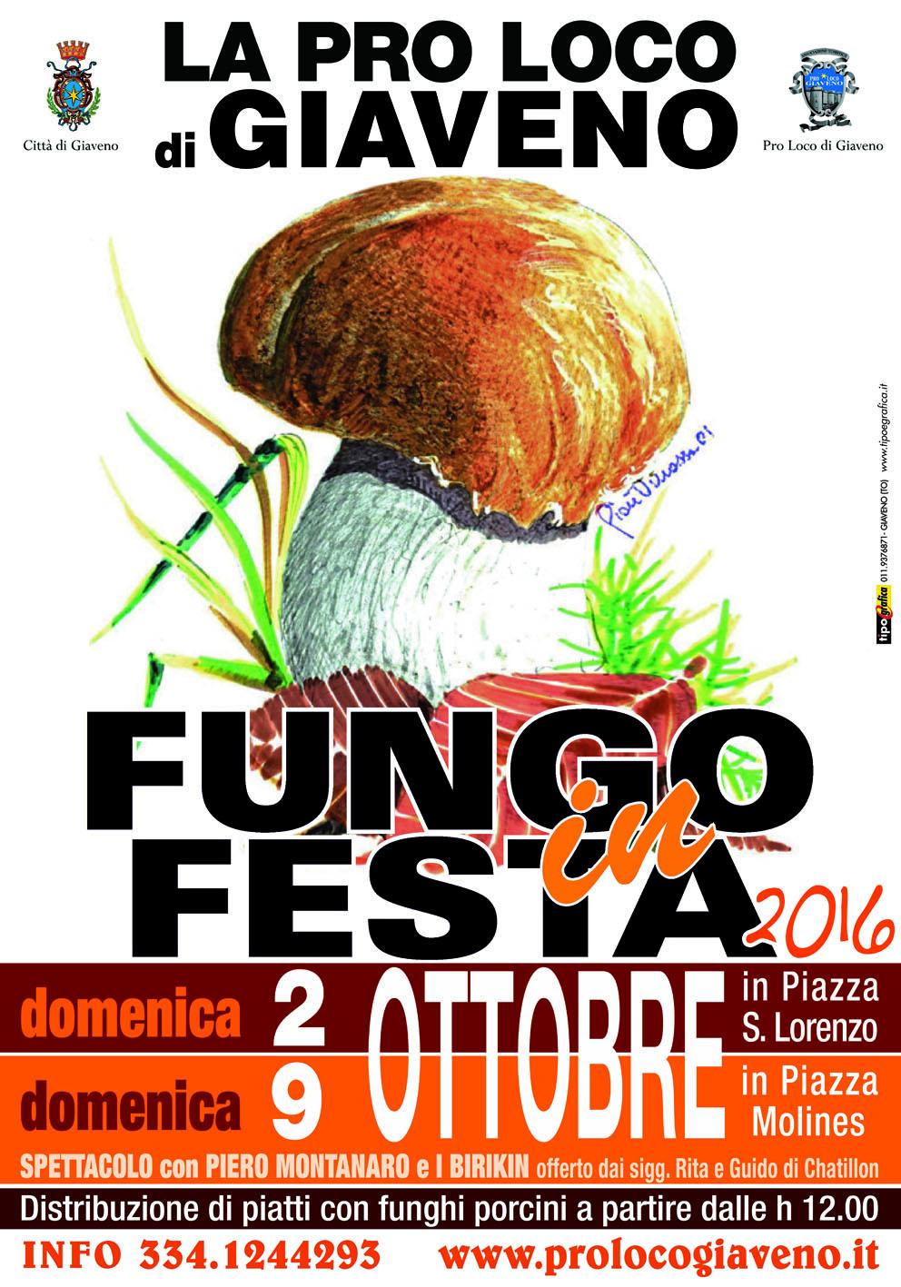 Fungo in Festa  appuntamenti del 9 ottobre 2016