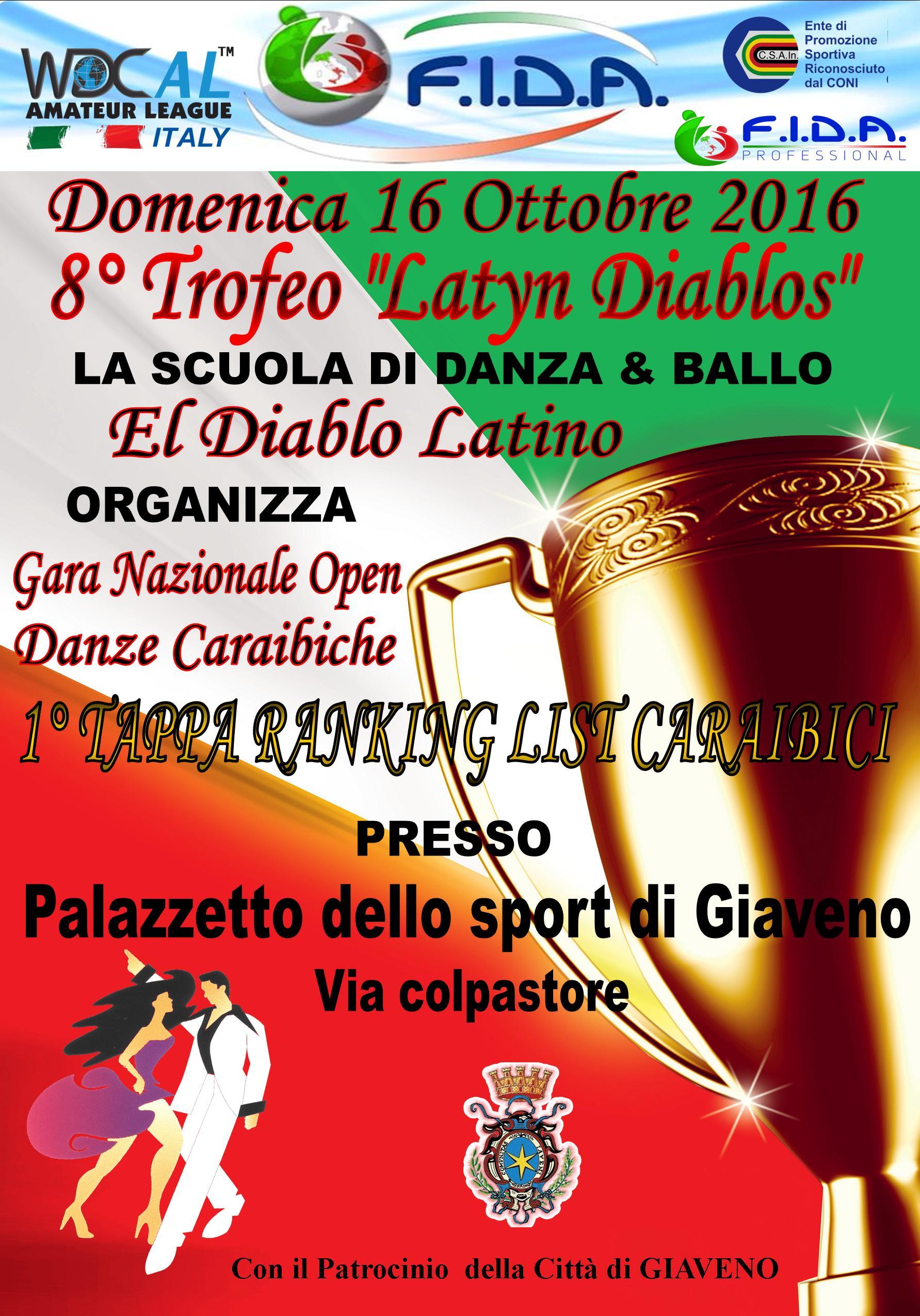 "8° Trofeo ""Latyn Diablos""  domenica 16 ottobre 2016"