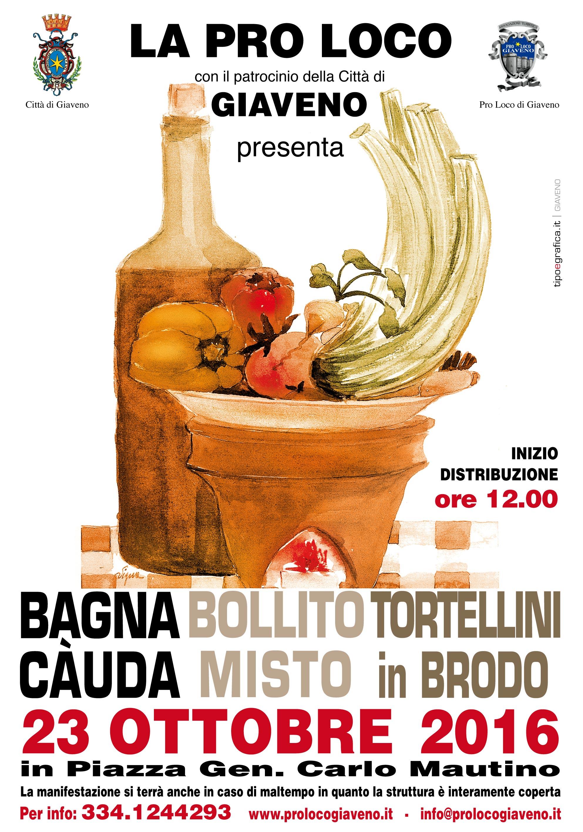 Bagna Càuda e Bollito Misto  domenica 23 ottobre 2016