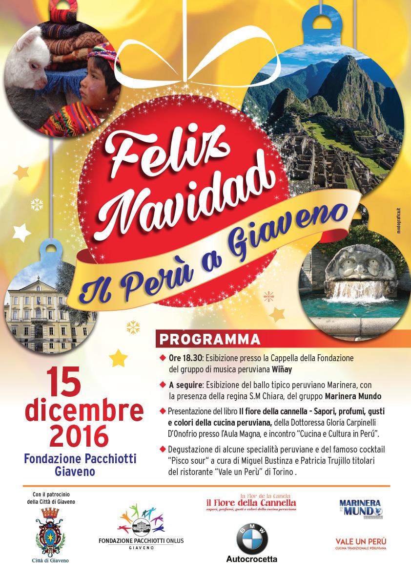 Feliz Navidad – Il Perù a Giaveno – Giovedì 15 dicembre 2016