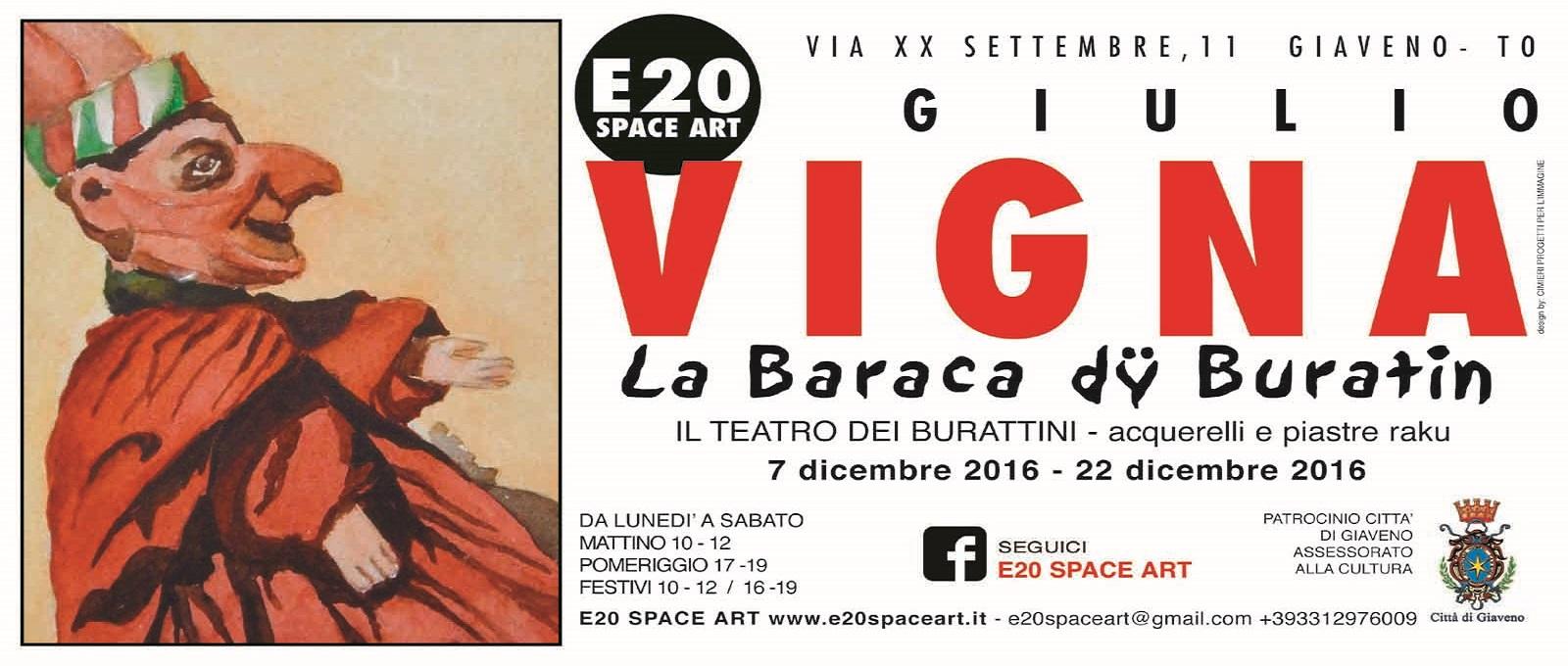 La Baraca dy Buratin – mostra di acquerelli e raku di Giulio Vigna