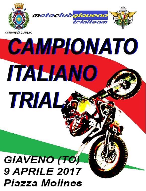Campionato Italiano di Trial  sabato 8 e domenica 9 aprile 2017