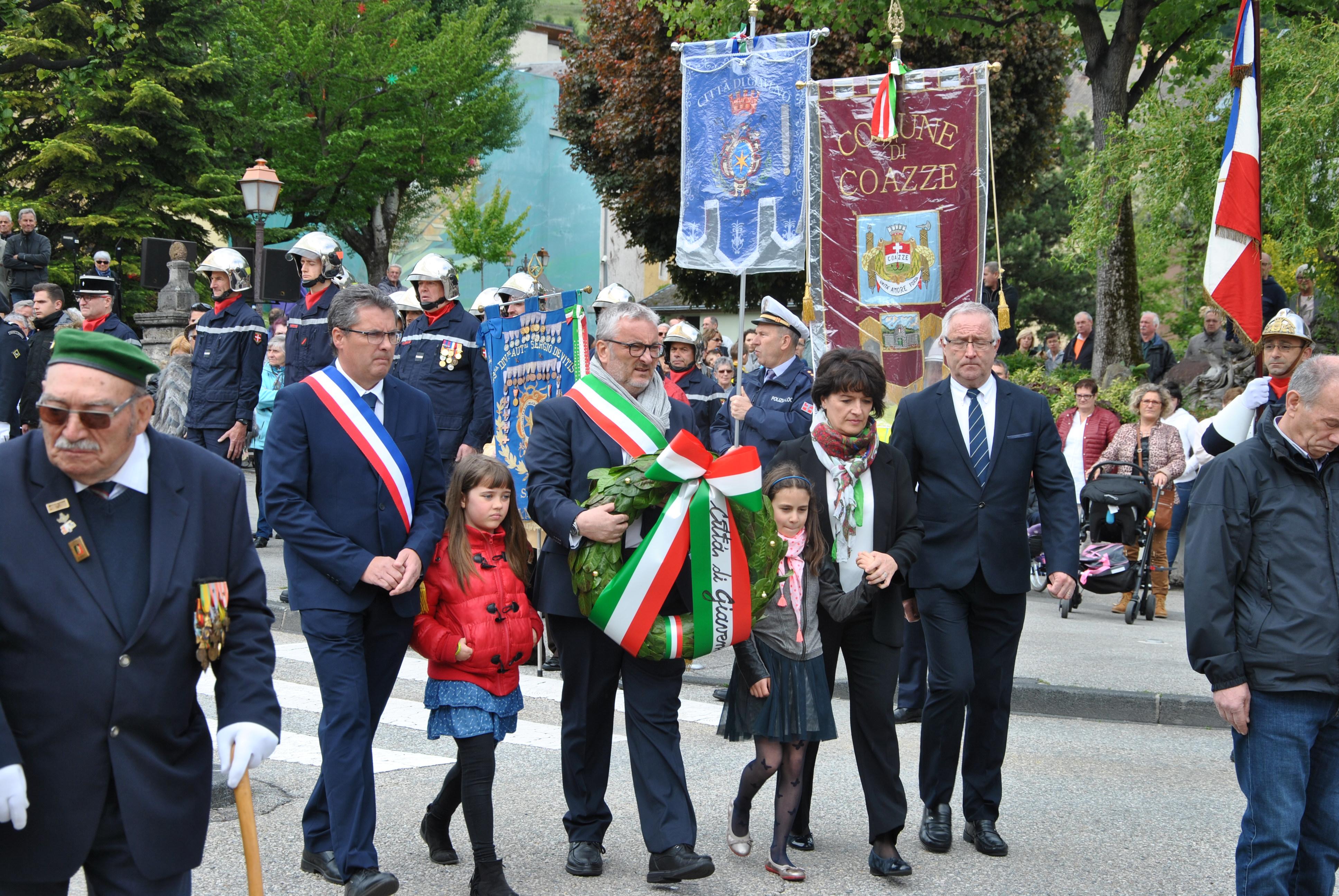 A Saint-Jean-de-Maurienne per la Giornata della Vittoria dell'8 maggio 1945 e per la Festa dell'Europa