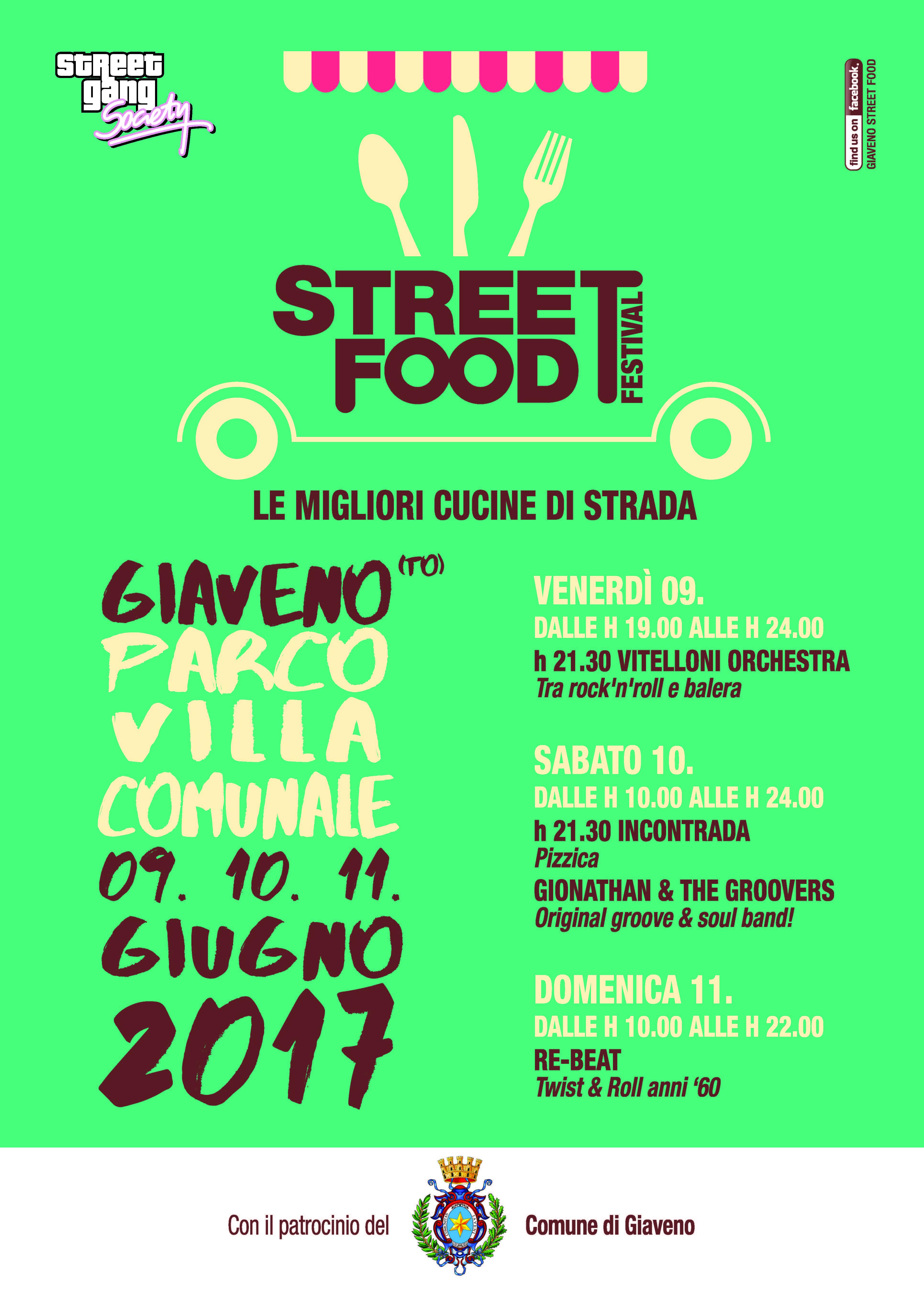 Street Food Festival – da sabato 9 a domenica 11 giugno 2017