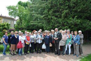 Il Gruppo di visitatori del Gran Tour alla Fontana della Venere