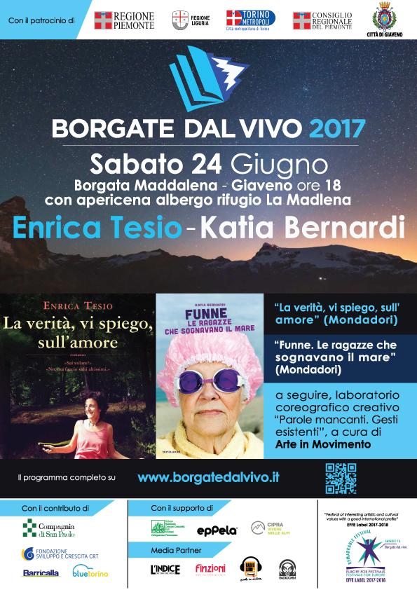 Arriva a borgata Maddalena il Festival letterario Borgate dal Vivo – sabato 24 giugno 2017