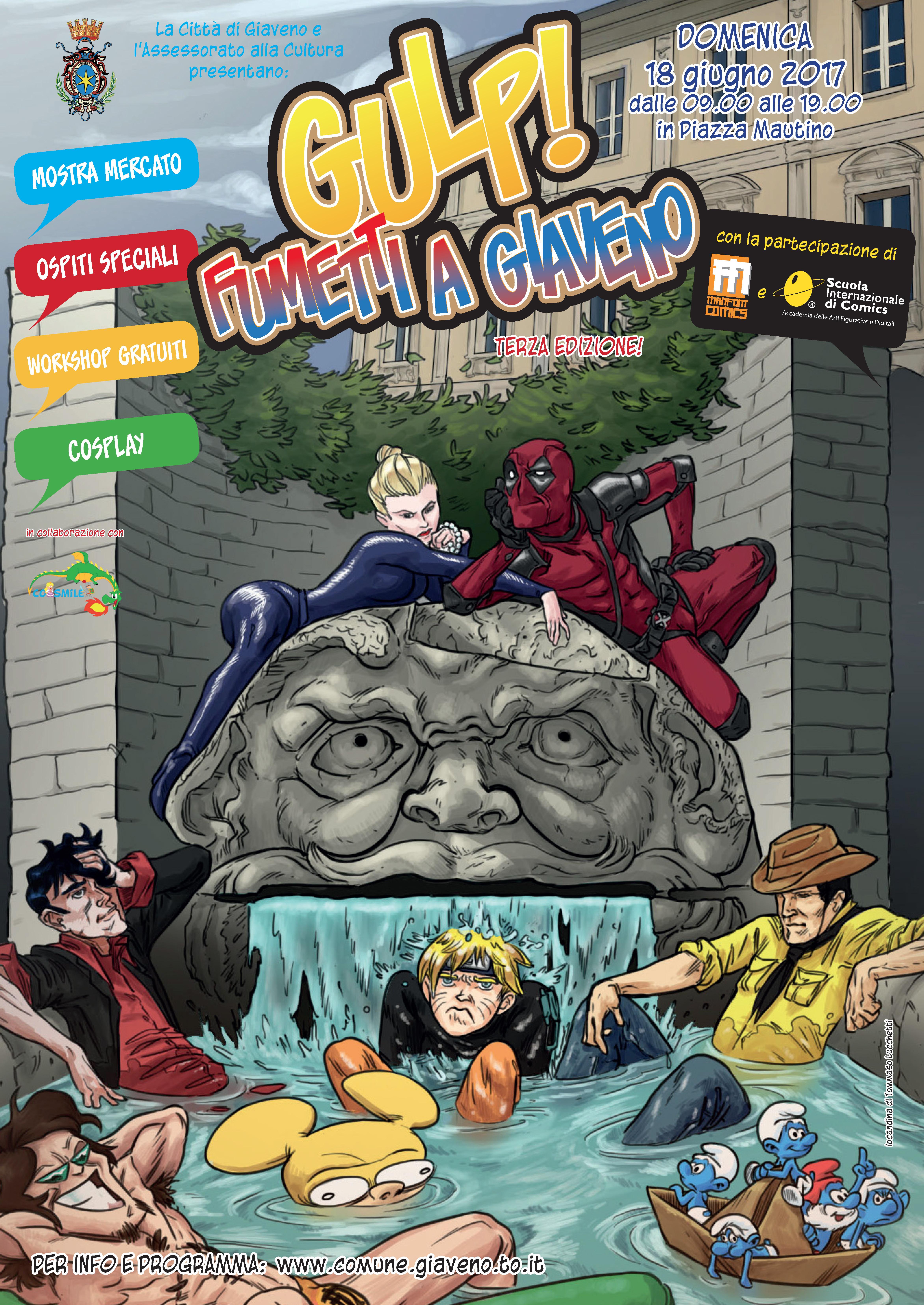 Gulp! Fumetti a Giaveno – 3° edizione – Domenica 18 giugno 2017