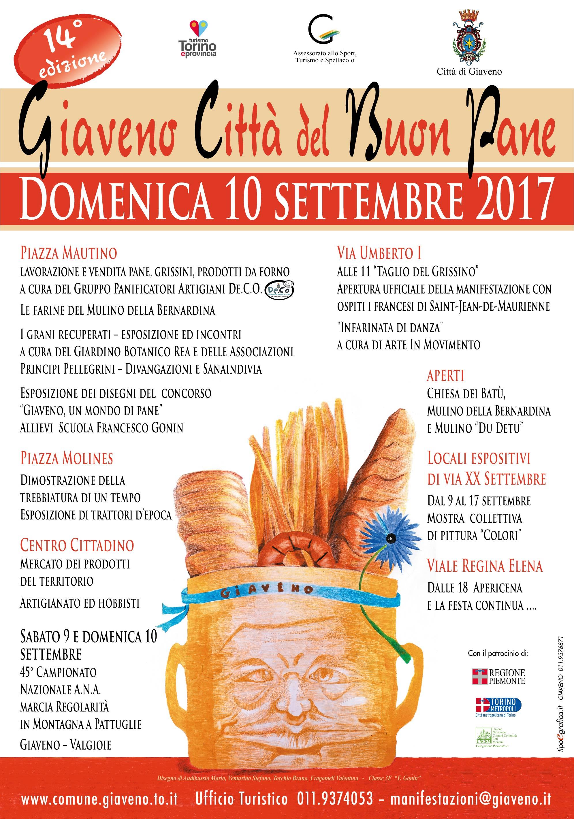 Giaveno Città del Buon Pane – domenica 10 settembre 2017