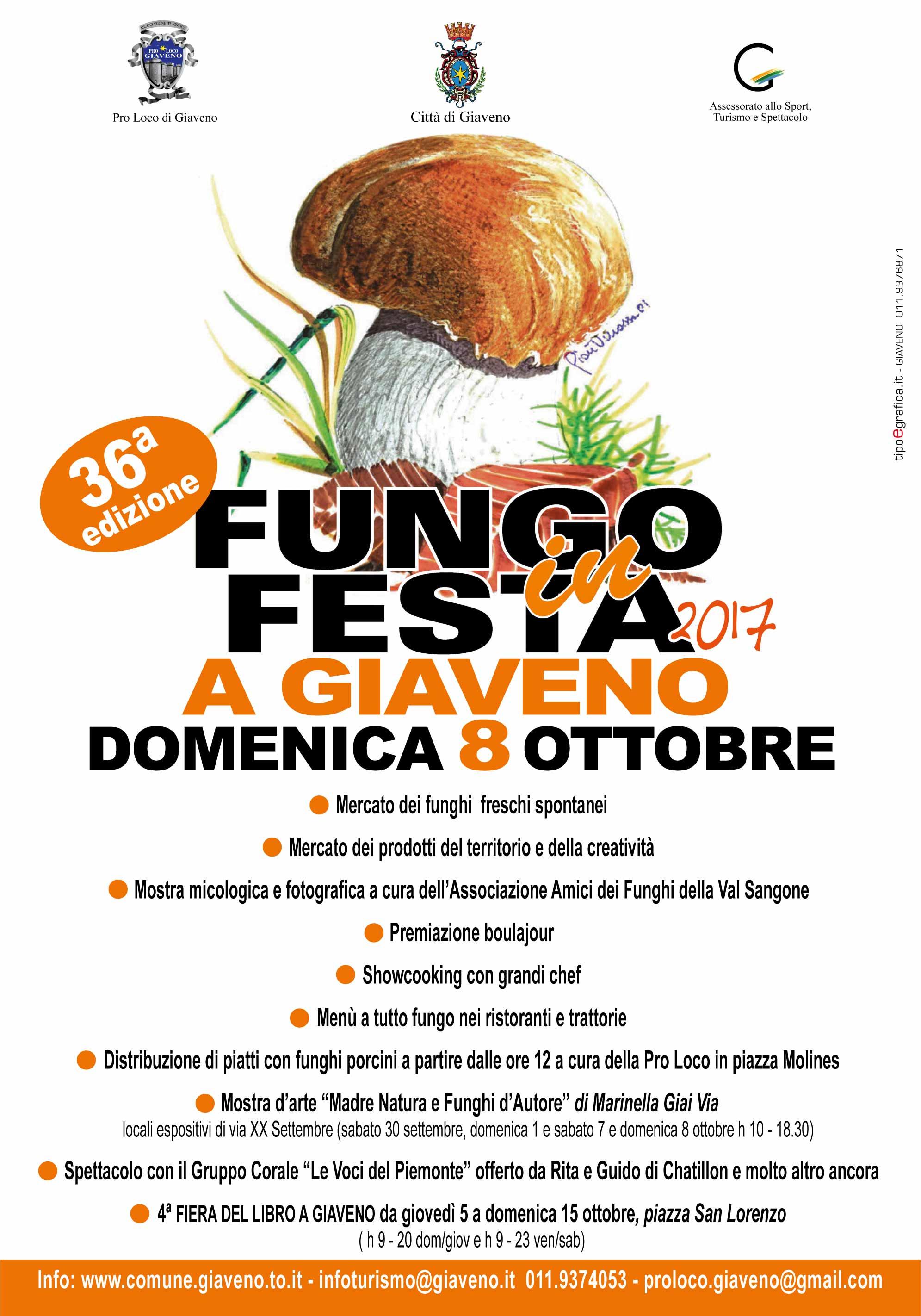 Fungo in Festa – domenica 8 ottobre 2017