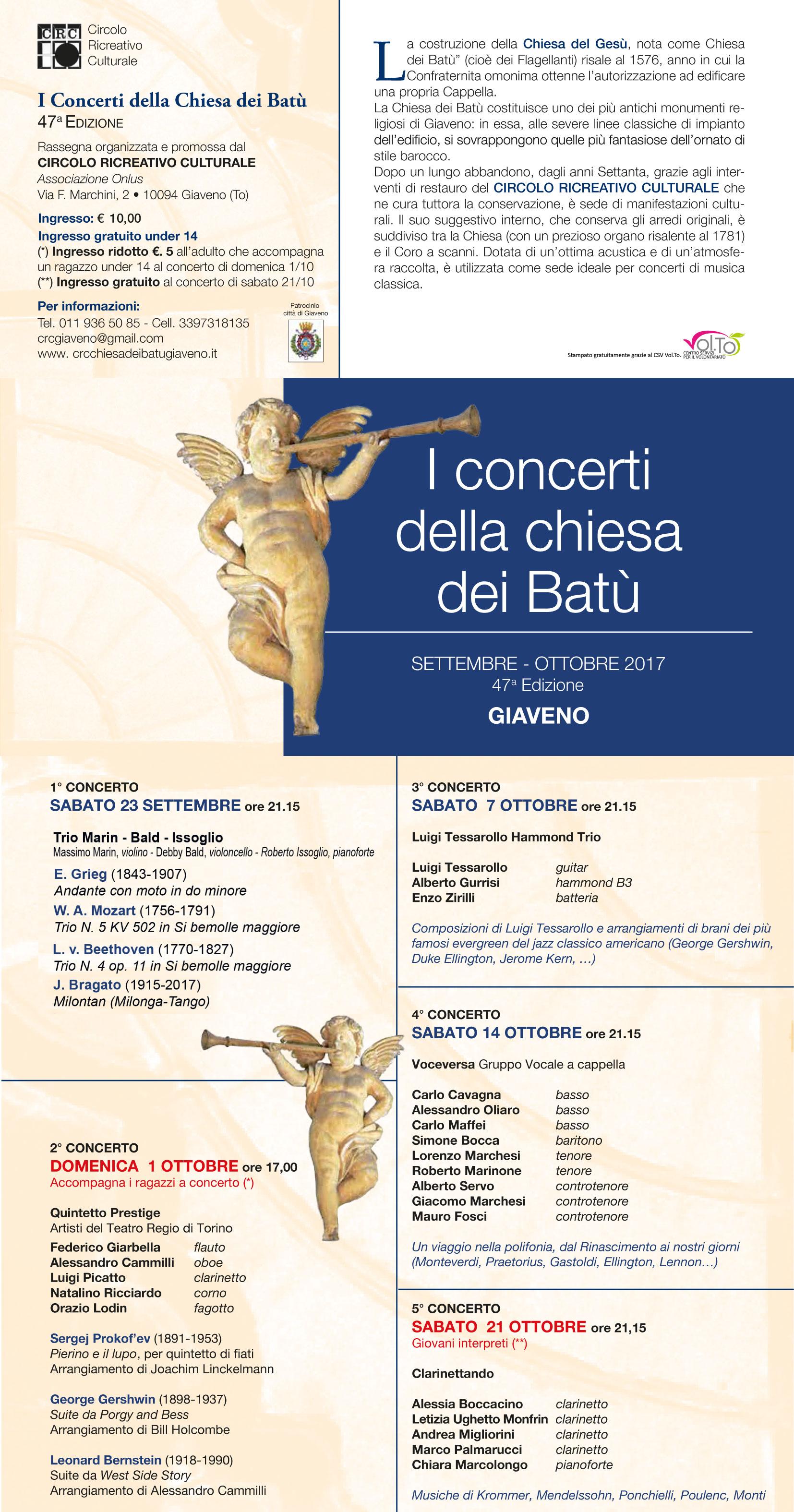 I Concerti della Chiesa dei Batù  – 47° edizione