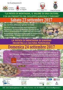 Programma 23 e 24 settembre - incontro Patata di Montagna - Giaveno