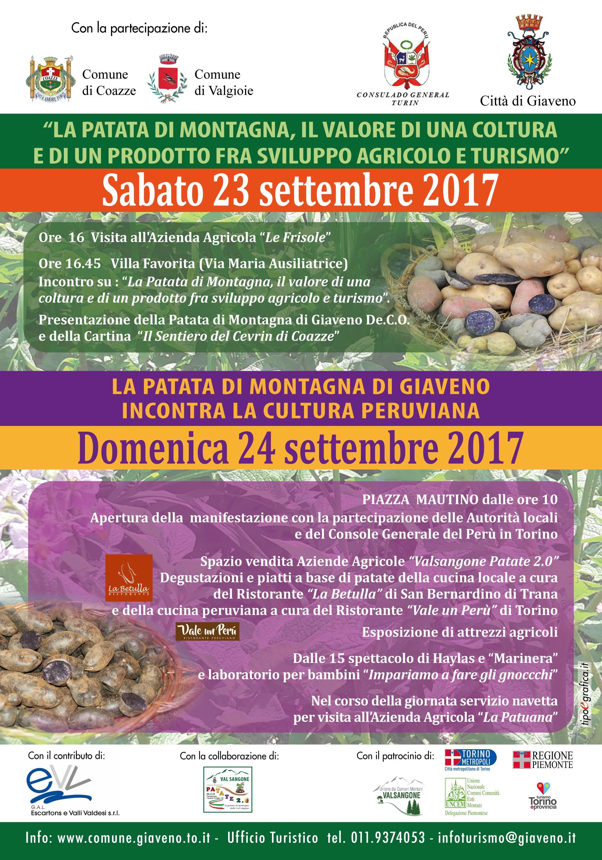 La patata di montagna del territorio del Gal Escartons e Valli Valdesi  – 23 e 24 settembre 2017