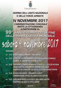Commemorazione IV NOVEMBRE 2017