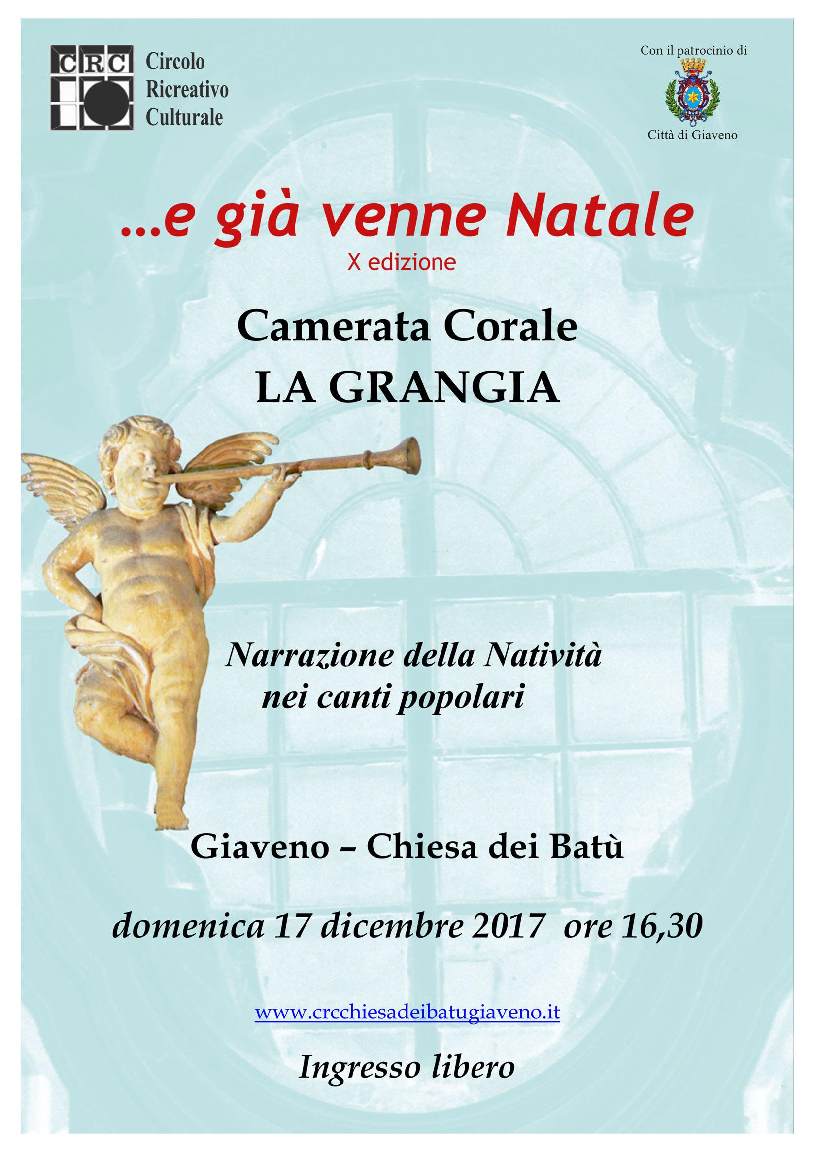 """""""… E già venne Natale"""" Concerto domenica 17 dicembre 2017"""
