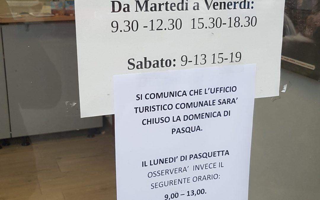 APERTURA  UFFICIO TURISTICO A PASQUETTA