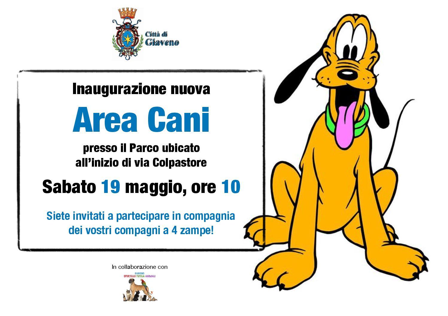 Inaugurazione nuova Area Cani  – sabato 19 maggio 2018