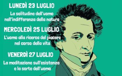 Giacomo Leopardi – tre serate in compagnia  di Piero Leonardi