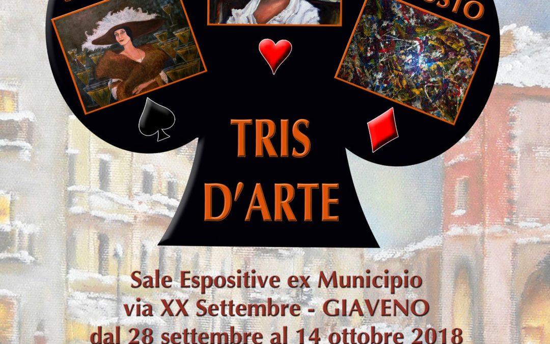 Tris d'Arte  – mostra  nei locali di via XX Settembre  dal 28 settembre al 14 ottobre 2018