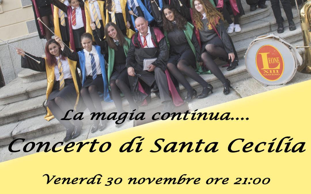 Concerto di Santa Cecilia della Banda Leone XIII – sabato 30 novembre 2018