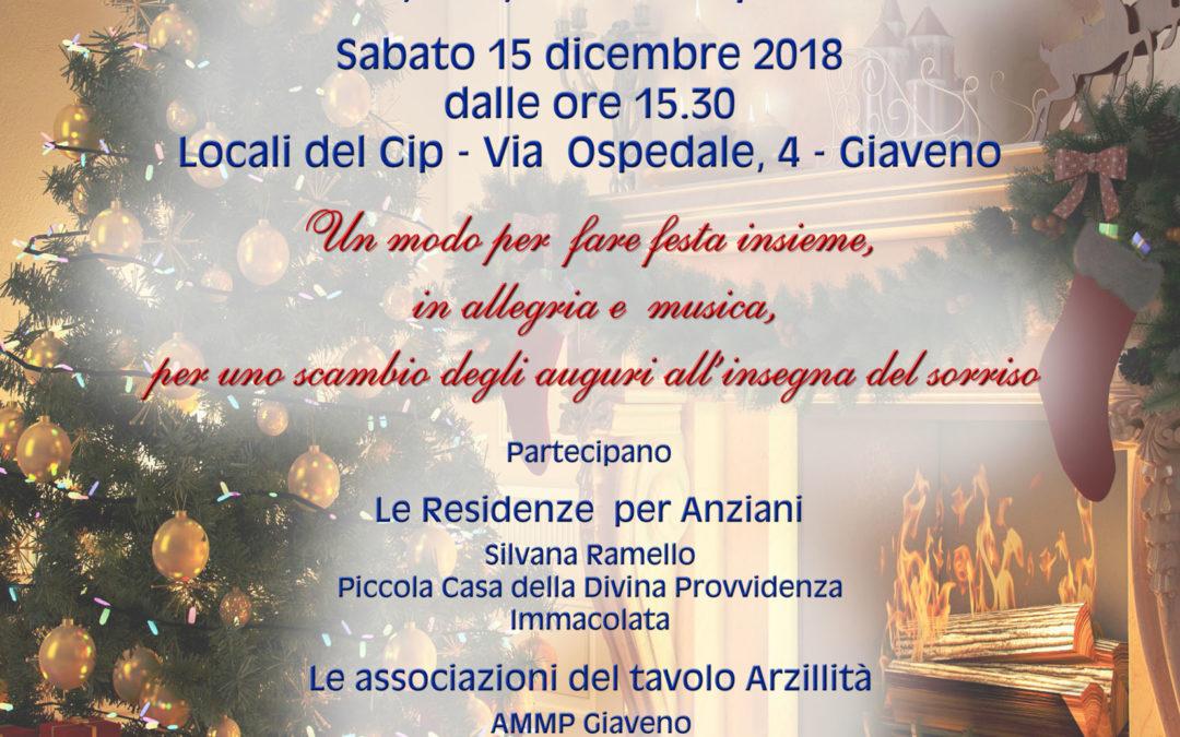 Comunità  in Festa – gli ospiti delle residenze per anziani e i volontari delle associazioni dell'Arzillità – sabato 15 dicembre 2018