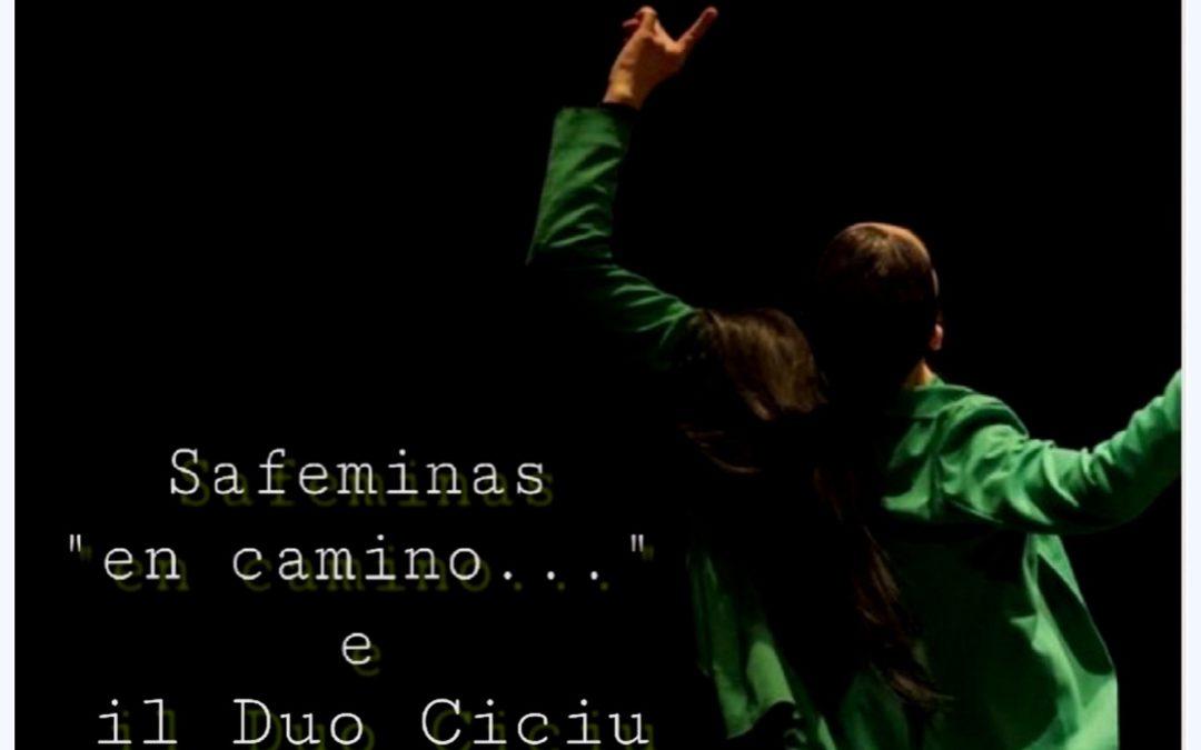 """Safeninas ""en camino…""   venerdì 18 gennaio 2019 –  riprende la rassegna di teatro danza Gesti Diversi"