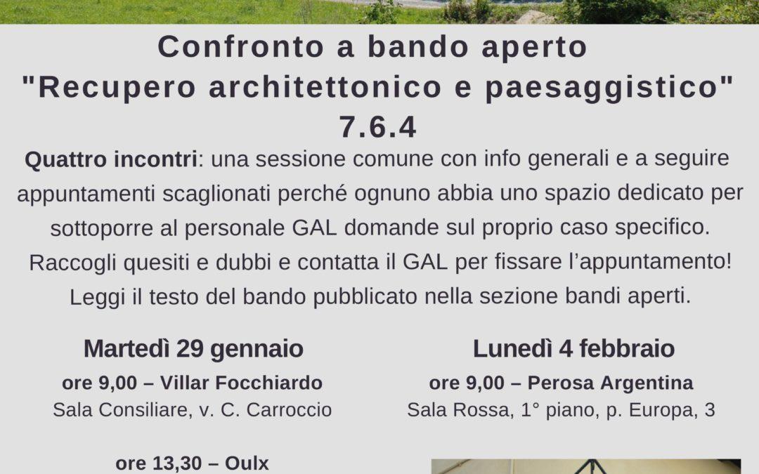 """Confronto a bando aperto """" Recupero architettonico e paesaggistico""""  GAL Escartons – Piano di Sviluppo Locale"""