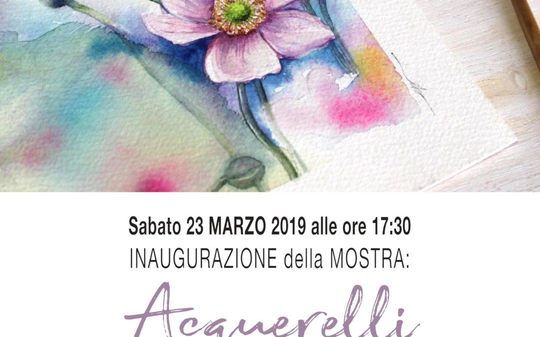 Acquerelli  di Eleonora Pezzoli  – dal 23 al 31 marzo 2019